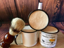 Havana Nights Bay Rum & Key Lime  Foaming Shave Soap in Enamel Tin Cup -Chesilhurst Farm