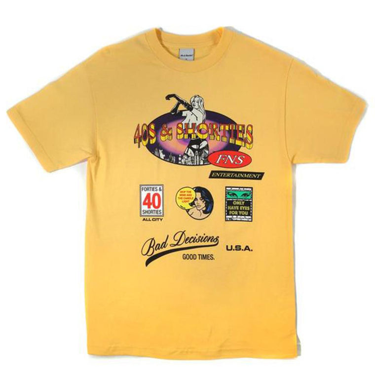 40'S AND SHORTIES BROADWAY TEE -YELLOW