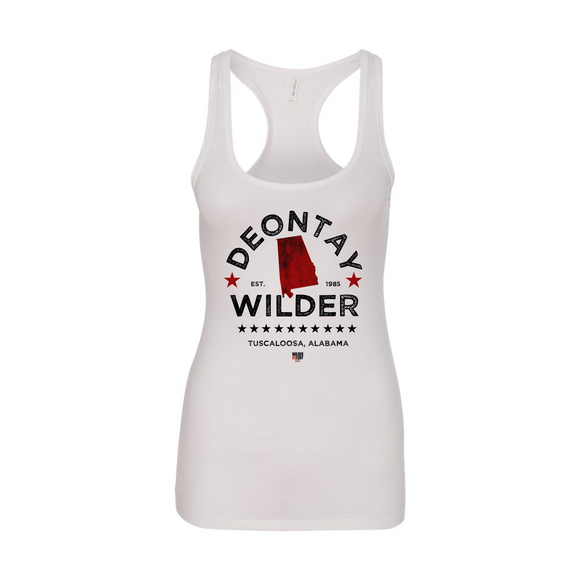 Deontay Wilder - Alabama Women's Racerback Tank Top