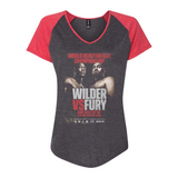Wilder Vs. Fury - Key Art Women's Baseball Tee