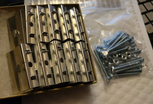 "Aluminum ""u-clip"" heatsink greeblies and screws for HiC panels - set of 20"