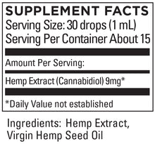 Load image into Gallery viewer, KR Broad Spectrum Hemp Extract 9+mg/serving, .5 FL OZ (15mL)