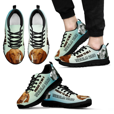 Proud To Be A Vizsla Dad Sneakers For Men- Father's Day Special-Paww-Printz-Merchandise