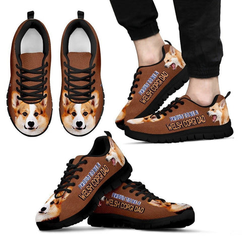 Proud To Be A Pembroke Welsh Corgi Dad Sneakers For Men- Father's Day Special-Paww-Printz-Merchandise