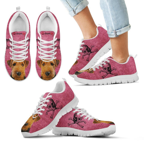 Welsh Terrier Halloween Print Running Shoes For Kids/Women-Free Shipping