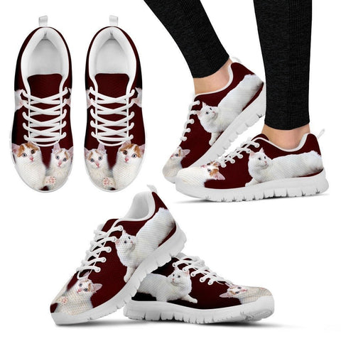 Cute Turkish Van Cat Print Sneakers For Women(White)- Free Shipping-Paww-Printz-Merchandise