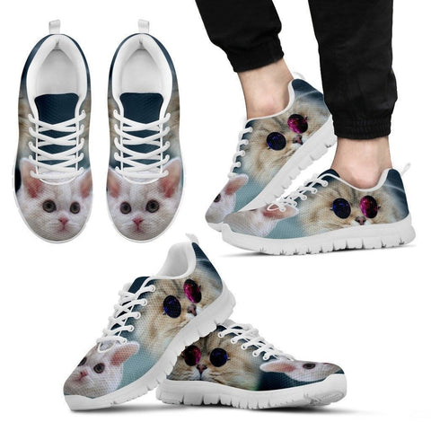 Cute Selkirk Rex Cat Print Running Shoe For Men- Free Shipping-Paww-Printz-Merchandise