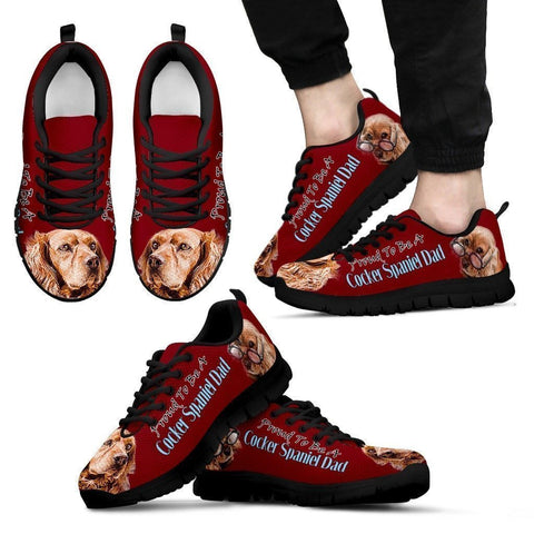 Proud To Be Cocker Spaniel Dad Sneakers For Men- Father's Day Special-Paww-Printz-Merchandise