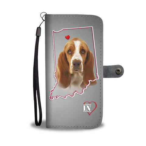 Basset Hound Print Wallet Case-Free Shipping-IN State