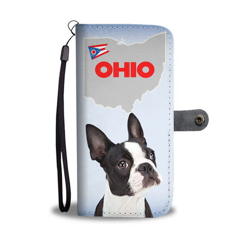 Boston Terrier Print Wallet Case-Free Shipping-OH State