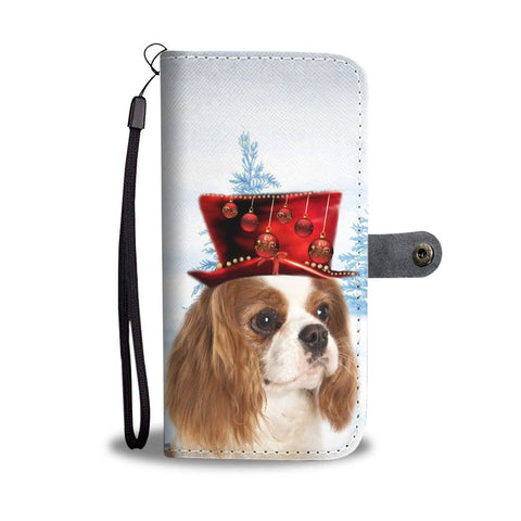Cavalier King Charles Spaniel Christmas Print Wallet Case-Free Shipping