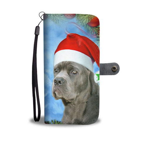 Cane Corso On Christmas Print Wallet Case-Free Shipping