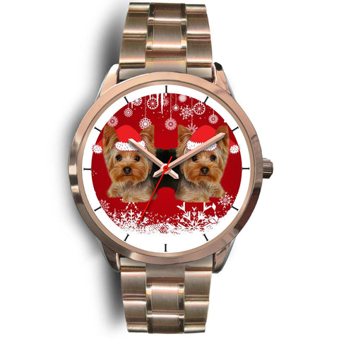Yorkshire Terrier (Yorkie) Christmas Print Wrist Watch-Free Shipping