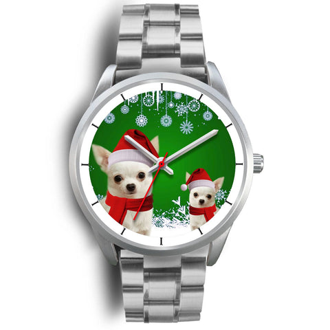Chihuahua Christmas Print Wrist Watch-Free Shipping