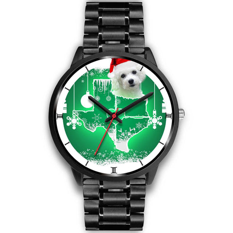 Bichon Frise Texas Christmas Special Wrist Watch-Free Shipping