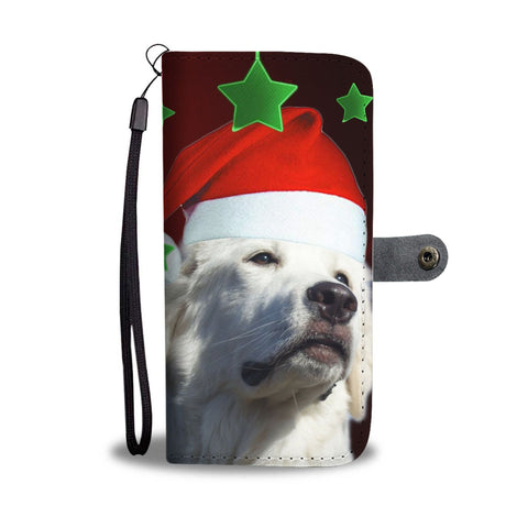 Great Pyrenees On Christmas Print Wallet Case-Free Shipping