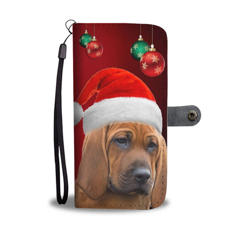 Cute Redbone Coonhound On Christmas Print Wallet Case-Free Shipping