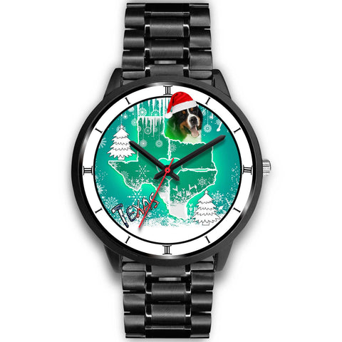 Bernese Mountain Dog Texas Christmas Special Wrist Watch-Free Shipping