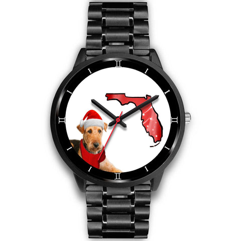 Airedale Terrier On Christmas Special Wrist Watch-Free Shipping-FL State