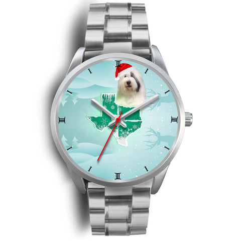 Old English Sheepdog Texas Christmas Special Wrist Watch-Free Shipping