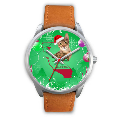 Savannah cat California Christmas Special Wrist Watch-Free Shipping