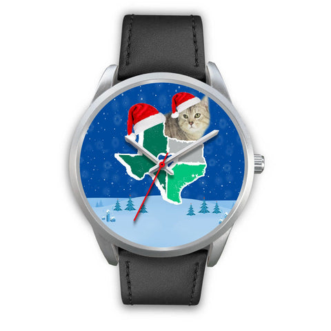 Manx cat Texas Christmas Special Wrist Watch-Free Shipping