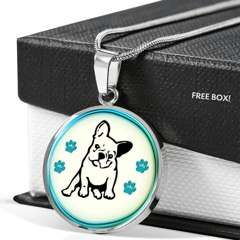 French Bulldog Print Luxury Necklace-Free Shipping