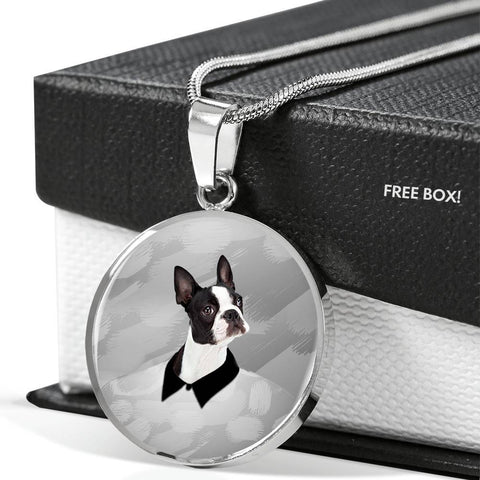 Boston Terrier Print Luxury Necklace-Free Shipping