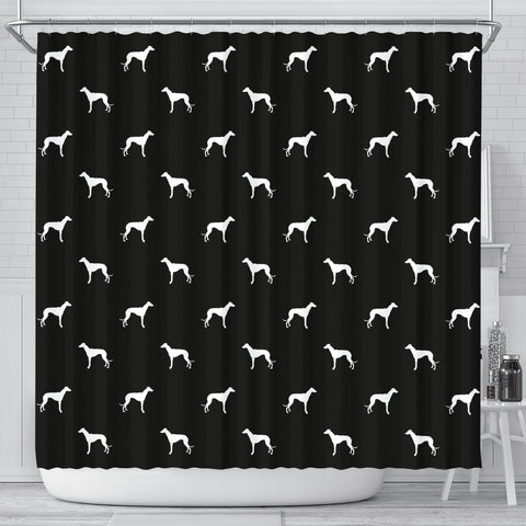 Amazing Whippet Dog Pattern Print Shower Curtains-Free Shipping