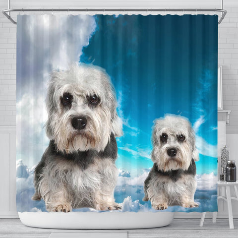 Lovely Dandie Dinmont Terrier Print Shower Curtains-Free Shipping