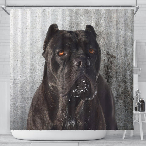 Cane Corso Print Shower Curtains-Free Shipping