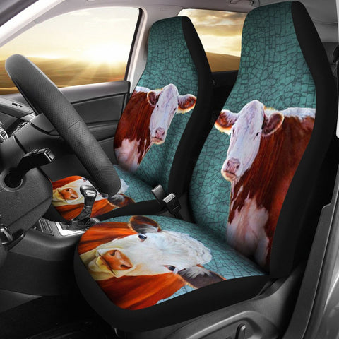 Hereford Cattle (Cow) Print Car Seat Covers- Free Shipping