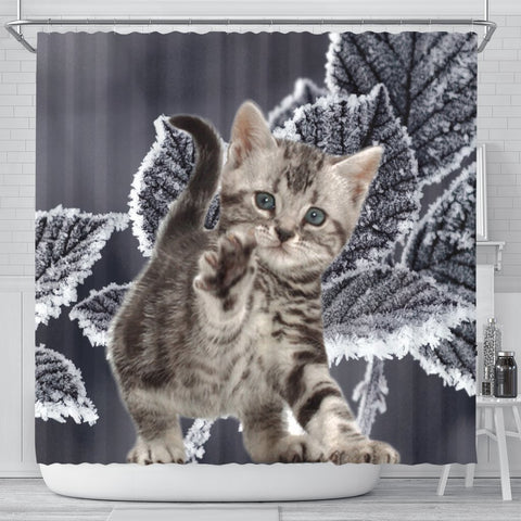 Cute American Bobtail Print Shower Curtains-Free Shipping