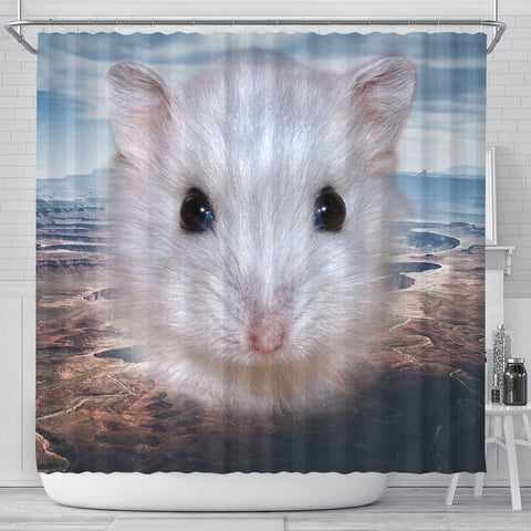 Cute Campbell's Dwarf Hamster Print Shower Curtains-Free Shipping
