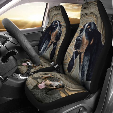 Bluetick Coonhound Print Car Seat Covers- Free Shipping