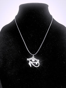 Eye of Horus Necklace - Braided Leather - Egyptian 3rd / Third Eye
