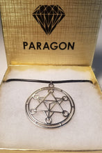 Silver Merkaba Halo Pendant Necklace  - Sacred Geometry