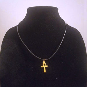 Small Gold Ankh Pendant Necklace - Egyptian Spiritual