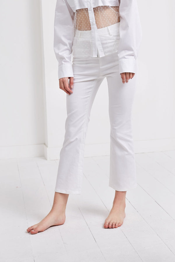 Flare Pants | White
