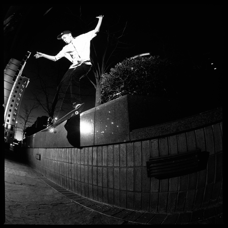 Lucien Clarke, Backside Smith Grind, Croydon, 2008. Dom Marley
