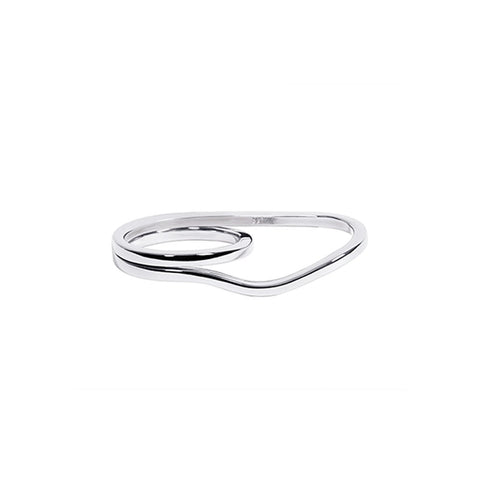 WIRE TWO FINGER RING SILVER