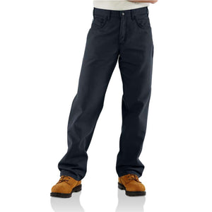 Men's Carhartt FR Original Loose Fit Midweight Canvas Pants - Navy