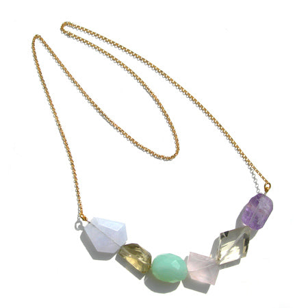 Gemstone  Statement necklace - karen-morrison-jewellery