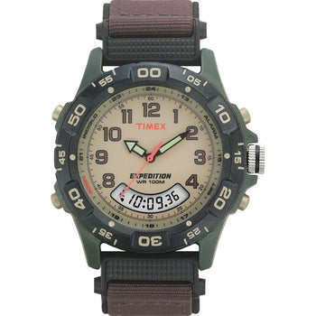 Timex Expedition Resin Combo Classic Analog Green-Black-Brown [T45181]-Timex-Point Supplies Inc.