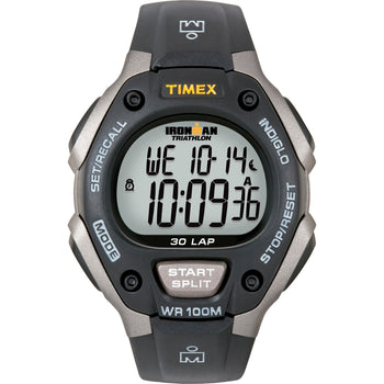 Timex Ironman Triathlon 30 Lap - Black-Silver [T5E901]-Timex-Point Supplies Inc.