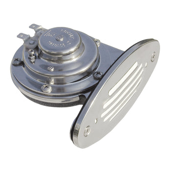 Ongaro Mini Single Drop-In Horn w-SS Grill - 12V Low Pitch [10050]-Schmitt & Ongaro Marine-Point Supplies Inc.