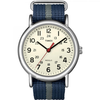 Timex Weekender Slip-Thru Watch - Navy-Gray [T2N654]-Timex-Point Supplies Inc.