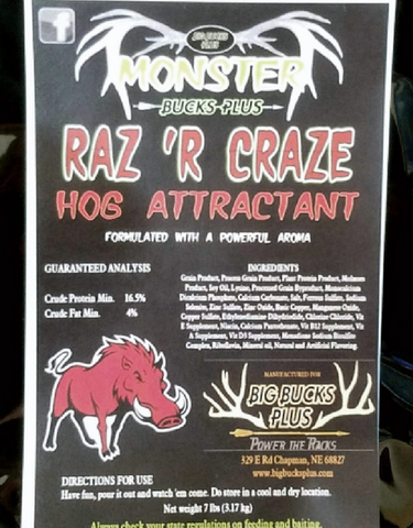 Raz 'R Craze HOG ATTRACTANT 7 lb. bag.