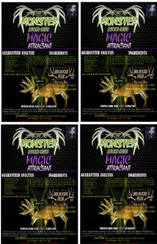 Monster Bucks Plus MAGIC 4 Pack *FREE Shipping*