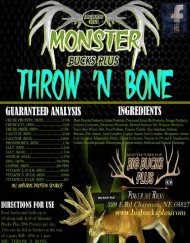 Monster Bucks Plus 'Throw 'N Bone' (TM) 12 Lb Bag